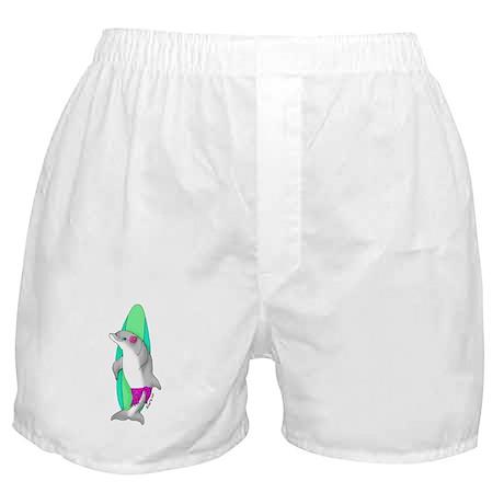 Surfer Girl Dolphin Boxer Shorts