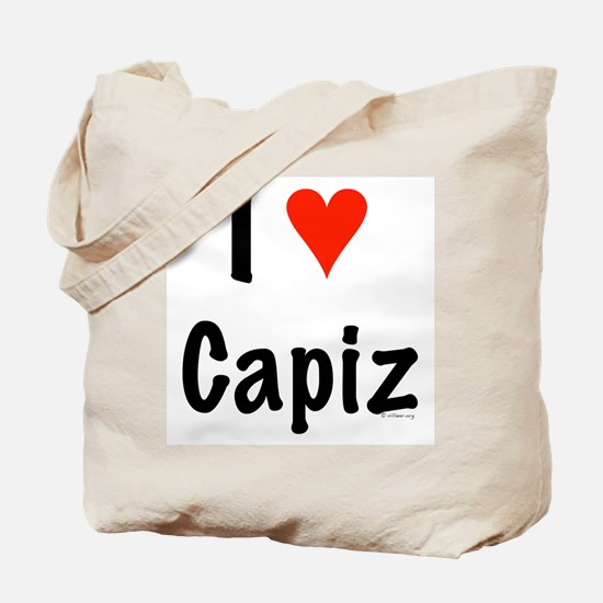 I love Capiz Tote Bag