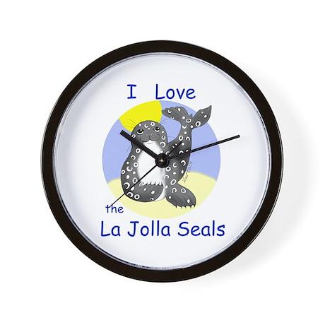 La Jolla Seals Wall Clock
