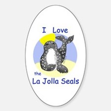 La Jolla Seals Oval Decal