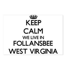 Keep calm we live in Foll Postcards (Package of 8)