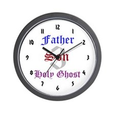 Father Son Holy Ghost Wall Clock