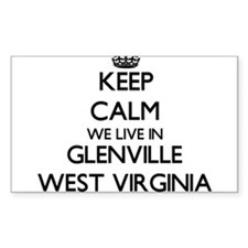 Keep calm we live in Glenville West Virgin Decal