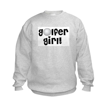 Golfer Girl Kids Sweatshirt