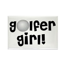 Golfer Girl Rectangle Magnet (10 pack)