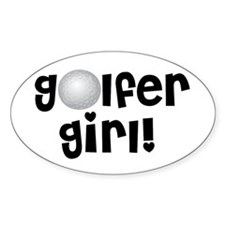 Golfer Girl Oval Decal