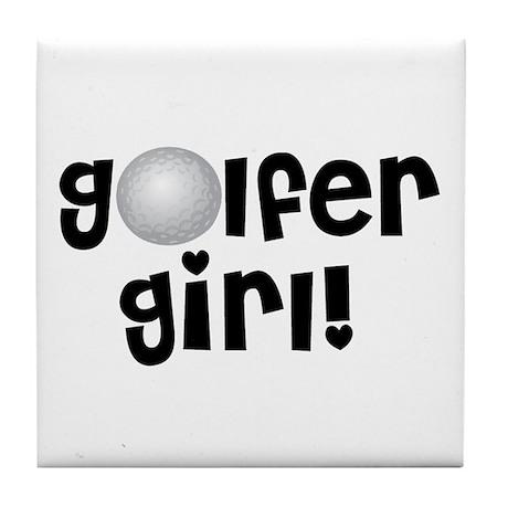 Golfer Girl Tile Coaster