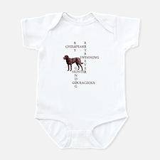 CHESSIE CROSSWORD Infant Bodysuit