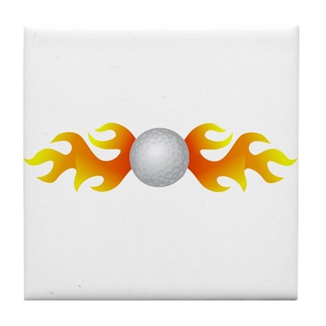 Golf Flames Tile Coaster