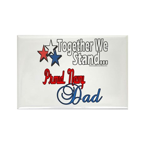 Navy Father Rectangle Magnet (10 pack)