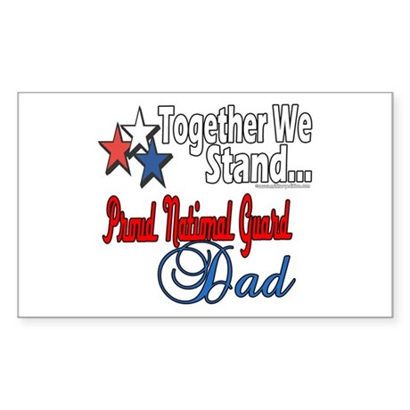 National Guard Father Rectangle Sticker