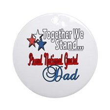National Guard Father Ornament (Round)