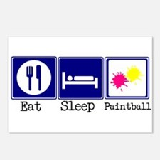 Eat, Sleep, Paintball Postcards (Package of 8)
