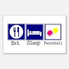 Eat, Sleep, Paintball Rectangle Decal