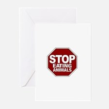 Stop Eating Animals Greeting Cards (Pk of 10)