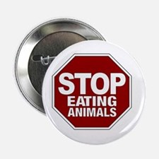 Stop Eating Animals Button