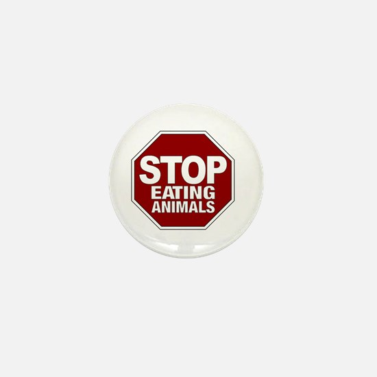 Stop Eating Animals Mini Button