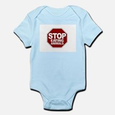 Stop Eating Animals Infant Bodysuit