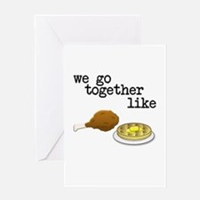 Chicken and Waffles Greeting Cards