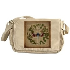 vintage botanical dragonfly Messenger Bag