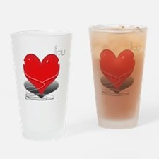 i heart u Drinking Glass