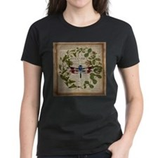 vintage botanical dragonfly T-Shirt
