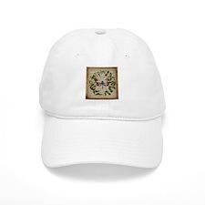 vintage botanical dragonfly Baseball Cap