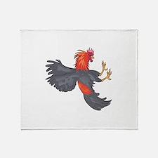FIGHTING COCK Throw Blanket