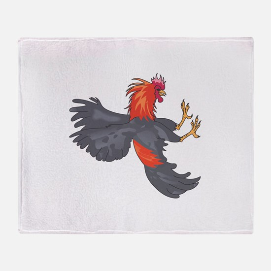 FIGHTING COCK Throw Blanket