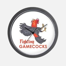 FIGHTING GAMECOCKS Wall Clock