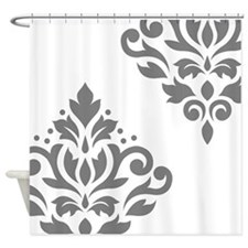 Scroll Damask Art I GW Shower Curtain