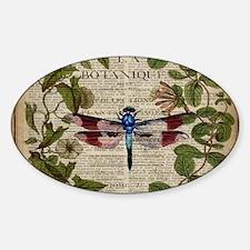 vintage botanical dragonfly Decal