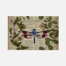 vintage botanical dragonfly Magnets