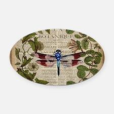 vintage botanical dragonfly Oval Car Magnet