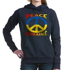 Peace Symbol Ukraine Women's Hooded Sweatshirt