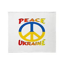 Peace Symbol Ukraine Throw Blanket