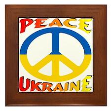 Peace Symbol Ukraine Framed Tile