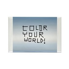 BlueLaser Color Your Word! RectangleMagnet 100pack