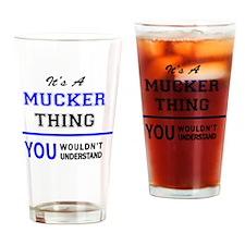 Cute Mucker Drinking Glass