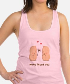 Cute Peanuts Nuts About You Love Humor Racerback T