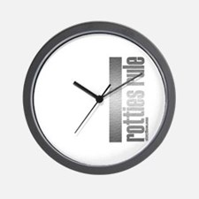 Rotties Rule Rottweilers Wall Clock