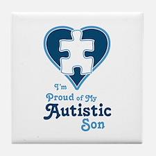 Proud of Son - Tile Coaster