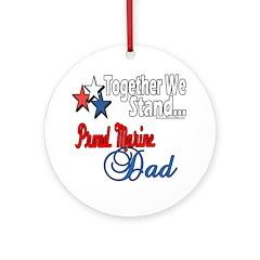 Marine Daddy Ornament (Round)
