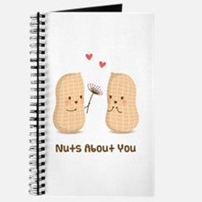 Cute Peanuts Nuts About You Love Humor Journal