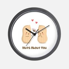 Cute Peanuts Nuts About You Love Humor Wall Clock