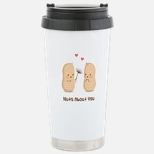 Cute Peanuts Nuts About You Love Humor Travel Mug