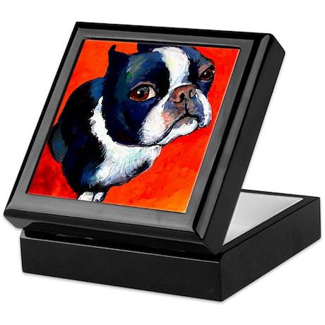Boston terrier 4 Keepsake Box