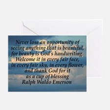 Enjoy Beauty-Emerson Greeting Cards (Pk of 10)