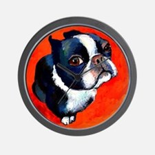 boston terrier 4 Wall Clock