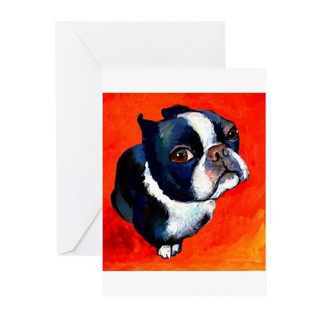 boston terrier 4 Greeting Cards (Pk of 10)